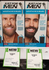 Just For Men 1 Pack Moustache Beard Medium Brown Real Black