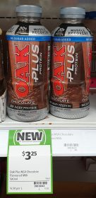 Oak 500mL Flavoured Milk Plus Protein Chocolate