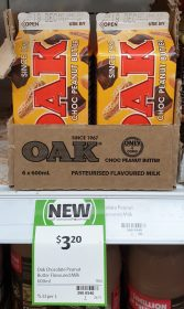 Oak 600mL Flavoured Milk Choc Peanut Butter