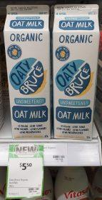 Oaty Bruce 1L Oat Milk Unsweetened Organic