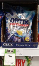 Optix 45 Pack Titanium Pro Dishwashing Tablets Fresh Lemon