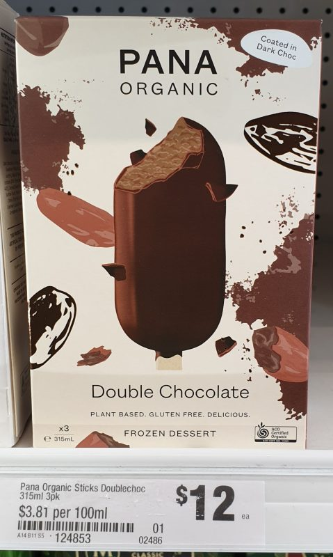 Pana Organic 315mL Frozen Dessert Double Chocolate