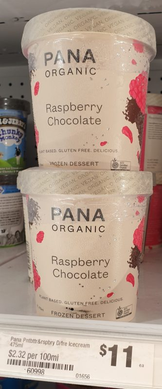 Pana Organic 475mL Frozen Dessert Raspberry Chocolate
