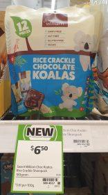 Sweet William 180g Rice Crackle Chocolate Koalas