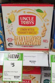 Uncle Tobys 175g Muesli Bars Lemon With A Yoghut Drizzle