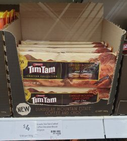 Arnotts 160g Tim Tam Crafted Collection Dimbulah Mountain Estate Coffee And Choc