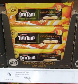 Arnotts 160g Tim Tam Crafted Collection Kensington Pride Mango And Cream