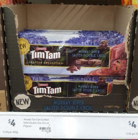 Arnotts 175g Tim Tam Crafted Collection Murray River Salted Double Choc