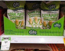 Cobs 120g Corn Puffs Sour Cream Chives