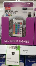 Coles 1 Pack Led Strip Light With Remote 3m