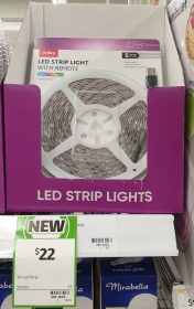 Coles 1 Pack Led Strip Light With Remote 5m