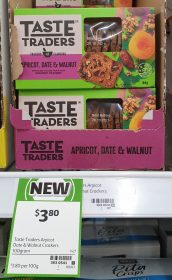 Coles 100g Taste Traders Crackers Apricot Date Walnut