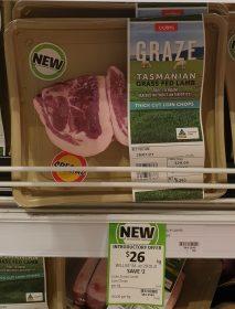 Coles 28 Kg Graze Tasmanian Grass Fed Lamb Thick Loin Chops