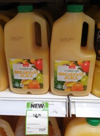 Coles 2L Breakfast Juice No Added Sugar
