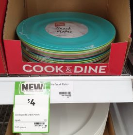 Coles 4 Pack Cook Dine Snack Plates