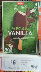 Coles 400mL Irresistible Vegan Frozen Dessert Vanilla