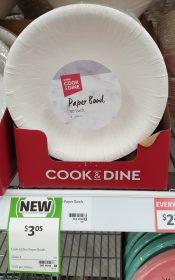 Coles 50 Pack Cook Dine Paper Bowl