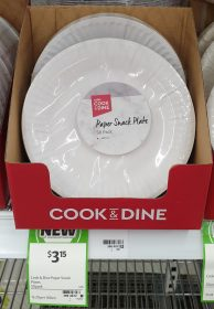 Coles 50 Pack Cook Dine Paper Snack Plate