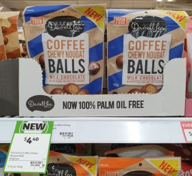 Darrell Lea 140g Balls Milk Chocolate Coffee Chewy Nougat