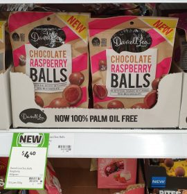 Darrell Lea 160g Balls Milk Chocolate Raspberry