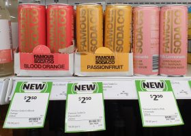 Famous Soda Co 250mL Blood Orange Passionfruit Pink Lemonade
