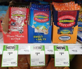 Movietime Popcorn 100g Microwave Popcorn Butter Sweet Salty Caramel Flavour