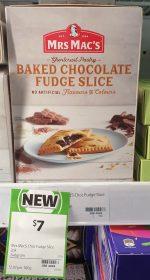 Mrs Macs 240g Baked Chocolate Fudge Slice