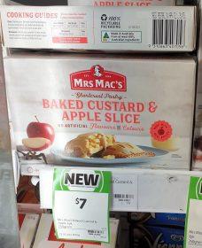 Mrs Macs 240g Baked Custard Apple Slice