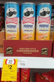 Pringles 134g Potato Chips Passport Flavours New York Cheeseburger Flavour
