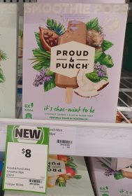 Proud Punch 420mL Smoothie Pops Its Choc Mint To Be