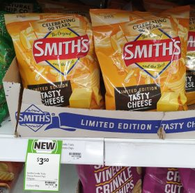 Smiths 150g Potato Chips Tasty Cheese