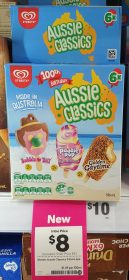 Streets 536mL Aussie Classics Bubble OBill Paddle Pop Rainbow Golden Gaytime