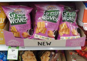 Sunbites 170g Grain Waves Wholegrain Chips Caramelised Onion Balsamic