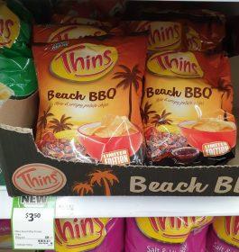 Thins 150g Potato Chips Beach BBQ