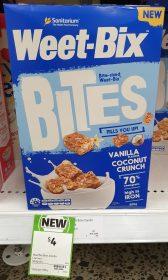 Weet Bix 500g Bites Vanilla Flavour Coconut Crunch