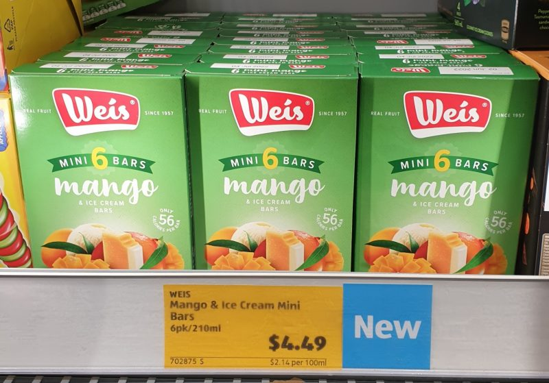 Weis 210mL Ice Cream Bars Mango Mini