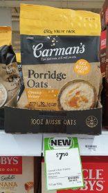 Carmans 650g Porridge Oats Creamy Honey