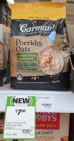 Carmans 650g Porridge Oats Natural 5 Grain Super Seed
