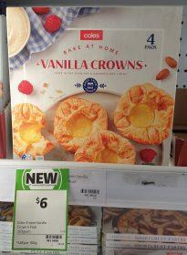 Coles 320g Bake At Home Vanilla Crowns