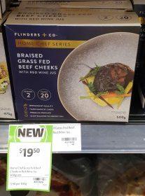 Flinders Co 500g Home Chef Series Braised Grass Fed Beef Cheeks