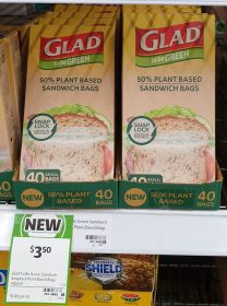 Glad 40 Pack To Be Green Sandwich Bags Plant Based