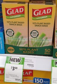Glad 50 Pack To Be Green Snack Bags PLant Based