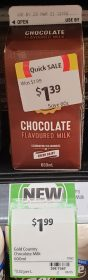 Gold Country Dairy 600mL Flavoured Milk Chocolate