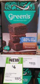 Greens 400g 40 Less Sugar Chocolate Brownies