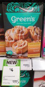 Greens 520g Temptations Cinnamon Scroll