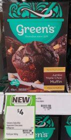 Greens 630g Temptations Jumbo Triple Choc Muffin