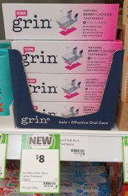 Grin 70g Toothpaste Natural Berry Licious