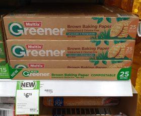 Multix 25m Greener Brown Baking Paper