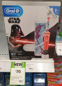 Oral B 1 Pack Electric Toothbrush Pro 100 Kids Star Wars