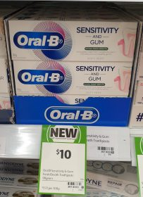 Oral B 90g Toothpaste Sensitivity And Gum Extra Fresh Breath